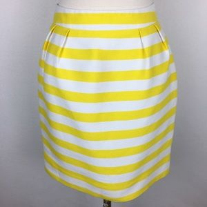 Kate Spade Yellow Stripe Skirt size 0